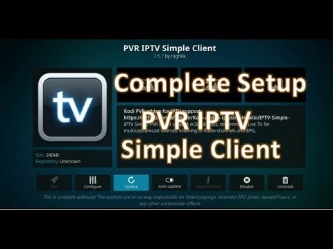 Stream IPTV on Kodi